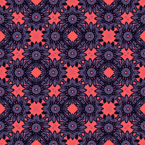Purple Daisy Field fabric by whimsydesigns on Spoonflower - custom fabric