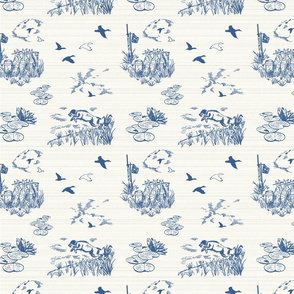 Boykin Hunt Test Toile: Blue