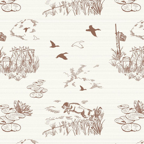 Boykin Hunt Test Toile: Red