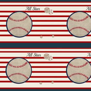 baseball all star 12 horizontal- red stripes-ed