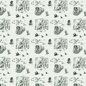 Boykin Hunt Test Toile: Green