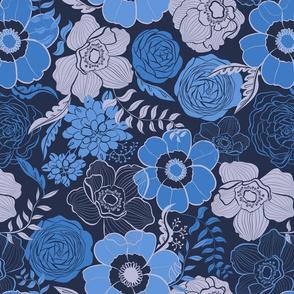 Night blue flower