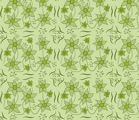 Garden Green fabric by wear_that's_me on Spoonflower - custom fabric