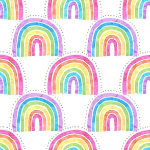 rainbow arch white