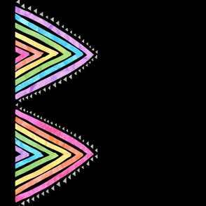 Rainbow triangle boarder black verticle