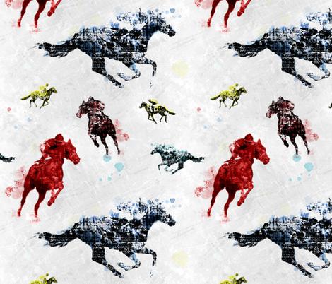 Courses de chevaux fabric by vannina on Spoonflower - custom fabric