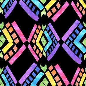 Rainbow Tribal black