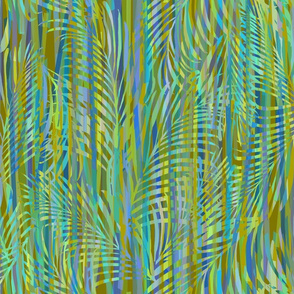 Palms Ribbons Olive 200