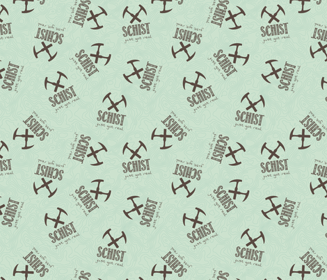 Schist Just Got Real - Geology fabric by ohmyheartgifts on Spoonflower - custom fabric