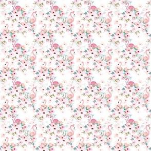 "2"" Summer Floral Flamingos"
