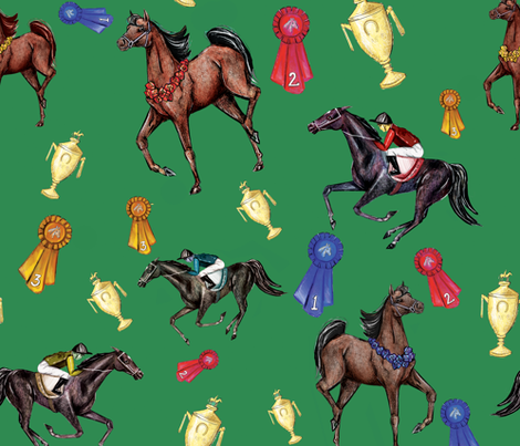 Horseplay fabric by jacquelynbizzottodesign on Spoonflower - custom fabric
