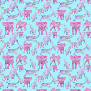 pink and lavender elephants