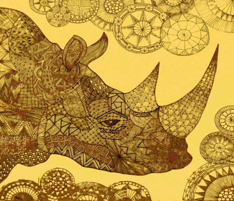 Rhino-ch fabric by jenny_healy on Spoonflower - custom fabric