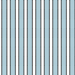 country check stripe blue and white