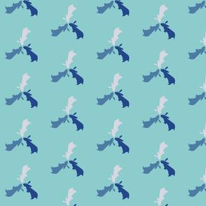 Rabbit Pinwheel Flower - Blue Tones