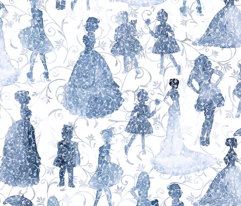 Fashion In Indigo fabric by gingerlique on Spoonflower - custom fabric