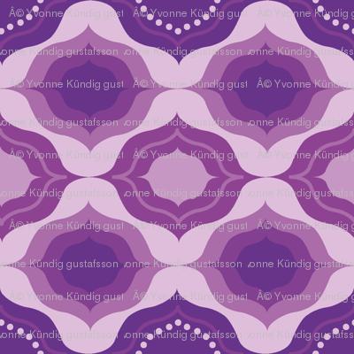 Geometric monochrome in purple