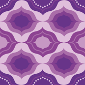 Geometric monochrome in purple
