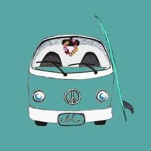 Beach Bus Teal