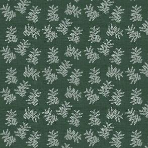 Delicate Fern, Pine Green Linen