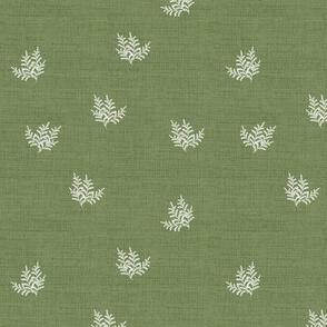 Feathery Fern, Thistle Green_Linen