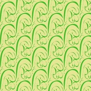 Rolling  Hills and Valleys on Green Ginger - Extra Small Scale