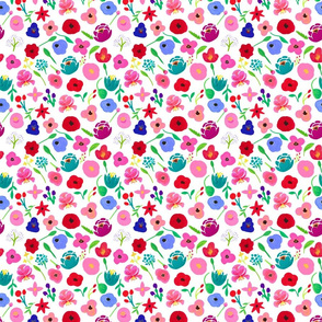 Roxy Acrylic Painted Floral 6""