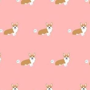 corgi red coat fart dog breed funny fabric pink