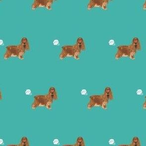 cocker spaniel fart dog breed funny fabric teal