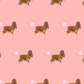 cocker spaniel fart dog breed funny fabric pink