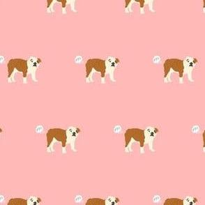 english bulldog fart dog breed funny fabric pink
