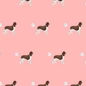 english springer spaniel fart dog breed funny fabric pink