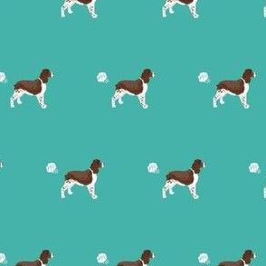 english springer spaniel fart dog breed funny fabric teal