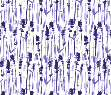 shades of lavender  fabric by kitty_legg on Spoonflower - custom fabric