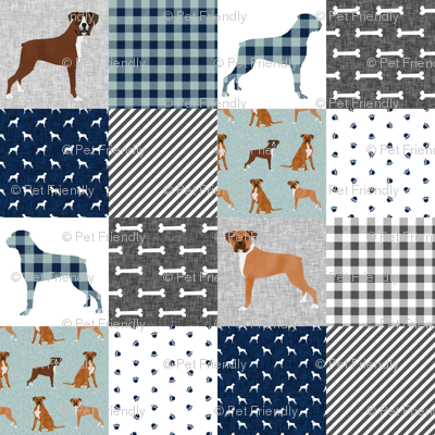 boxer pet quilt b dog breed nursery cheater quilt wholecloth