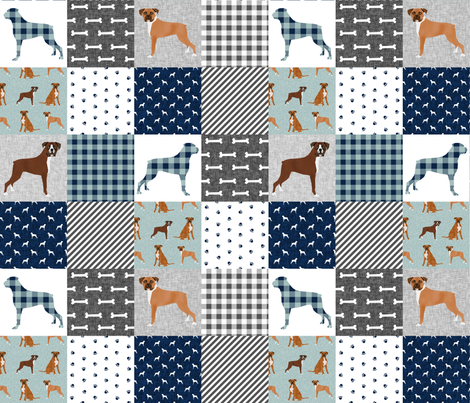 boxer pet quilt b dog breed nursery cheater quilt wholecloth fabric by petfriendly on Spoonflower - custom fabric