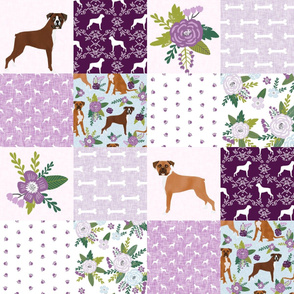 boxer pet quilt c dog breed nursery cheater quilt wholecloth