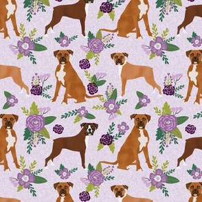boxer pet quilt c dog breed nursery coordinate floral