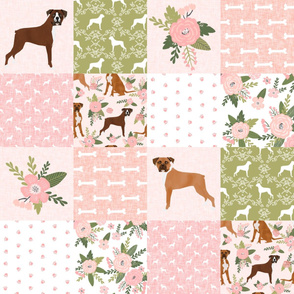boxer pet quilt d dog breed nursery cheater quilt wholecloth