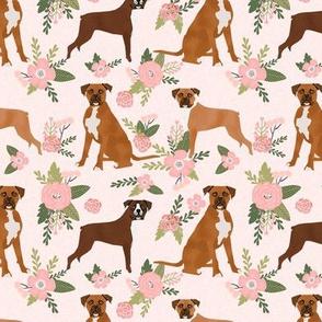 boxer pet quilt d dog breed nursery coordinate floral