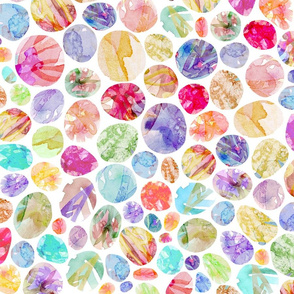 Watercolor Mosaic Pebbles