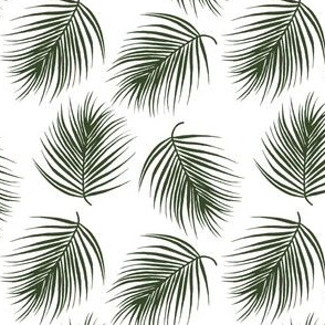 "4"" Palm Leaves - Dark Green"