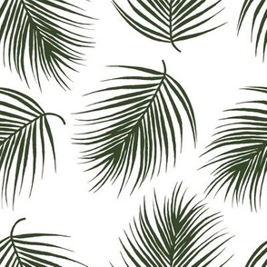 "8"" Palm Leaves - Dark Green"