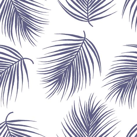 "8"" Palm Leaves - Dark Lilac fabric by shopcabin on Spoonflower - custom fabric"