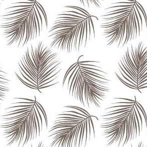 "4"" Palm Leaves - Dark Tan"