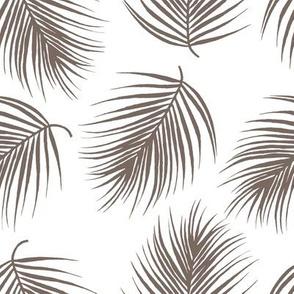 "8"" Palm Leaves - Dark Tan"