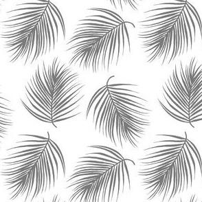 "4"" Palm Leaves - Grey"