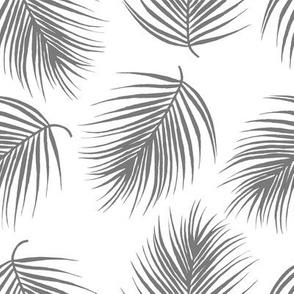 "8"" Palm Leaves - Grey"