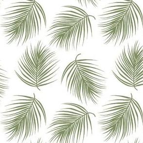 "4"" Palm Leaves - Light Green"