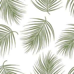 "8"" Palm Leaves - Light Green"